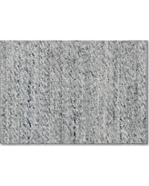 2'x3' Chunky Knit Wool Woven Rug Gray - Project 62