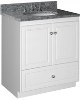 Simplicity by Strasser Ultraline 30 in. W x 21 in. D x 34.5 in. H Vanity with No Side Drawers Cabinet Only in Satin White