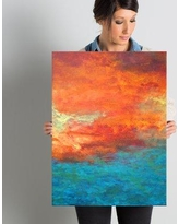 """Zipcode Design 'Lake Reflections II' Painting on Wrapped Canvas Print ZIPC1805 Size: 24"""" H x 18"""" W"""