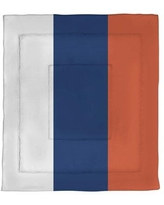 Find Deals On East Urban Home Edmonton Hockey Single Reversible Comforter Polyester In Orange Navy Blue Orange Size Queen Comforter Wayfair