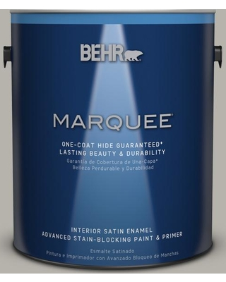 BEHR MARQUEE 1 gal. #PPU25-07 Arid Plains Satin Enamel Interior Paint and Primer in One