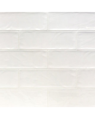 Ivy Hill Tile Pier White 4 in. x 12 in. 6 mm Polished Ceramic Subway Wall Tile (33 piece 10.76 sq. ft. / Box)