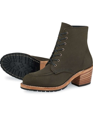 Red Wing Heritage Women's Clara Boot - 8 - Pewter Acampo