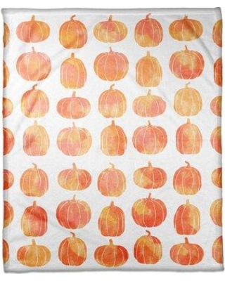"The Holiday Aisle Pumpkins Fleece Throw THDA5401 Size: 30"" W x 40"" L"