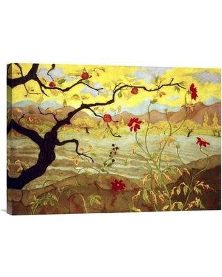 Global Gallery 'Apple Tree with Red Fruit' by Paul Ranson Painting Print on Wrapped Canvas GCS-267066-30