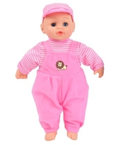 WonderPlay Baby Doll With 4 Sounds - Pink