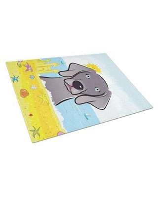 Caroline's Treasures Caroline's Treasures Tempered Glass Summer Beach Cutting Board BB2 Dog Breed: Weimaraner