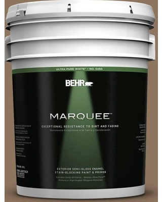 BEHR MARQUEE 5 gal. #700D-6 Belgian Sweet Semi-Gloss Enamel Exterior Paint and Primer in One