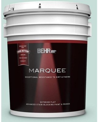 BEHR MARQUEE 5 gal. #MQ3-20 Whipped Mint Flat Exterior Paint & Primer