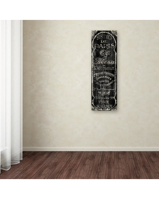 """Trademark Fine Art 47 in. x 16 in. """"Paris Bistro VIII"""" by Color Bakery Printed Canvas Wall Art, Multi"""