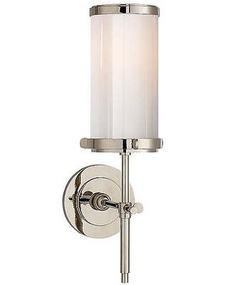 Bryant Wall Sconce by Visual Comfort - Color: White - Finish: Brass - (TOB 2015HAB-WG)