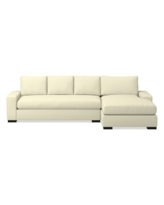 Robertson Sectional, Right 2-Piece L-Shape Sofa with Chaise, Standard Cushion, Brushed Canvas, Natural