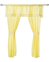 Baby Doll Candyland 5 Piece Window Valance and Curtain Set, Yellow