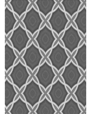 East Urban Home Abstract Wool Gray Area Rug X113648337 Rug Size: Rectangle 2' x 4'