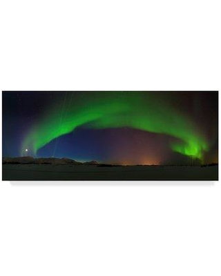 "Trademark Fine Art 'Northern Lights Night' Photographic Print on Wrapped Canvas 1X04970-CGG Size: 10"" H x 24"" W x 2"" D"