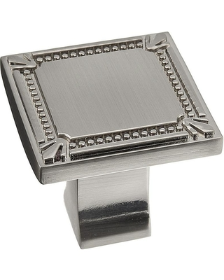 Richelieu Hardware 1-3/8 in. x 1-3/8 in. (35 mm x 35 mm) Brushed Nickel Traditional Metal Cabinet Knob