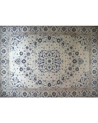 """Isabelline One-of-a-Kind Pitchford Hand-Knotted 10'1"""" x 13'6"""" Beige/Gray Area Rug W001227047"""