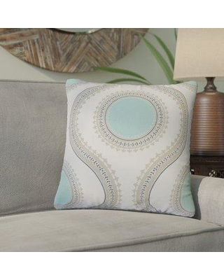 Bungalow Rose Gwendolyn Graphic Cotton Throw Pillow BGRS4797 Color: Turquoise