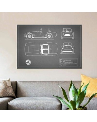 "East Urban Home 'AC Cobra Roadster' Graphic Art Print on Canvas in Gray ESUR4033 Size: 18"" H x 26"" W x 1.5"" D"