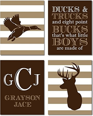 Canary Road Hunting Nursery Boys Themed Woodland Decor Wall Art Kids Deer Antler Duck From Bhg