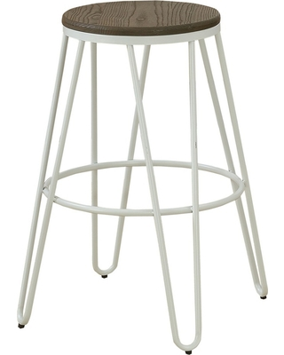Puckard Contemporary Counter Height Stool White   Homes: Inside + Out