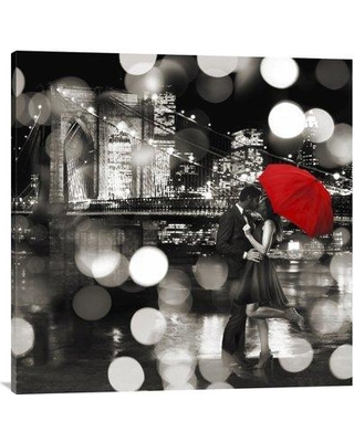 """Global Gallery 'A Kiss in the Night (BW Detail)' by Loumer Photographic Print on Wrapped Canvas GCS-465812- Size: 36"""" x 36"""" x 1.5"""" D"""