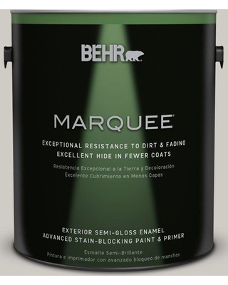 BEHR MARQUEE 1 gal. #BNC-05 Ground Fog Semi-Gloss Enamel Exterior Paint and Primer in One