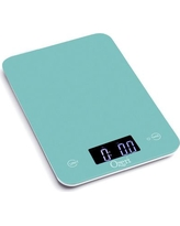 Ozeri Touch Professional Digital Kitchen Scale (12 lbs Edition), Tempered Glass ZK013 Color: Teal Blue