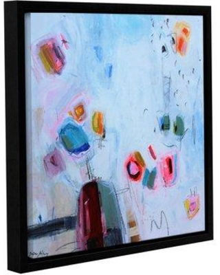 """Latitude Run Abstract Gems 1 Framed Painting Print on Wrapped Canvas LATR6184 Size: 18"""" H x 18"""" W x 2"""" D"""
