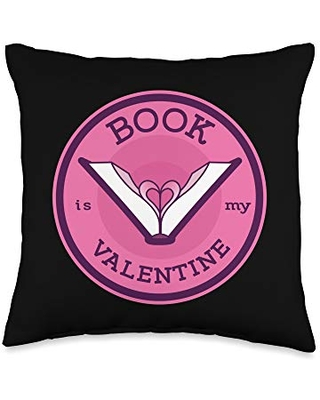 Sandra - Love collection Valentine-Book Lover Throw Pillow, 16x16, Multicolor