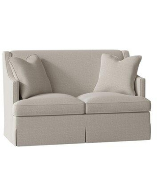 "Duralee Furniture Cardiff 60"" Recessed Arm Loveseat WPG10-615-60 Body Fabric: Gabriella Mineral"