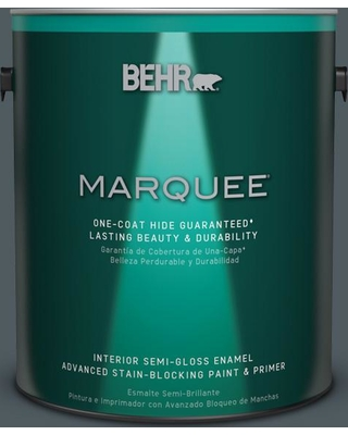 BEHR MARQUEE 1 gal. #PPU25-21 City Rain Semi-Gloss Enamel Interior Paint and Primer in One
