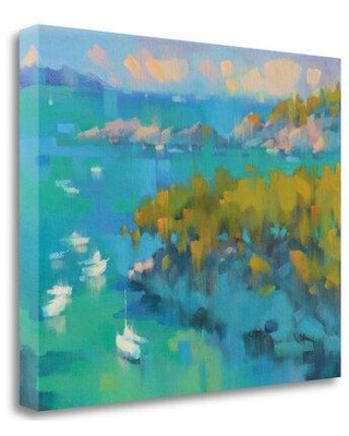 """Tangletown Fine Art 'Cala Fornels II' Print on Wrapped Canvas ICK2253D-2117c Size: 33"""" H x 41"""" W"""