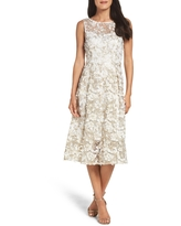 Adrianna Papell Midi Dress, Size 2 in Ivory/Gold at Nordstrom