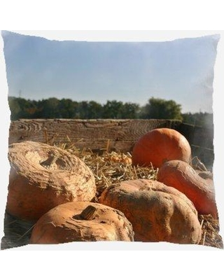 The Holiday Aisle Westling Pumpkin Indoor/Outdoor Throw Pillow W000759050