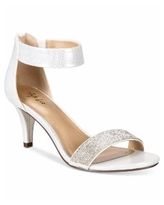 Style & Co Phillys Two-Piece Evening Sandals, Created for Macy's - Silver Sparkle