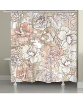 """Laural Home Blushing Florals Shower Curtain (71"""" x 74"""")"""