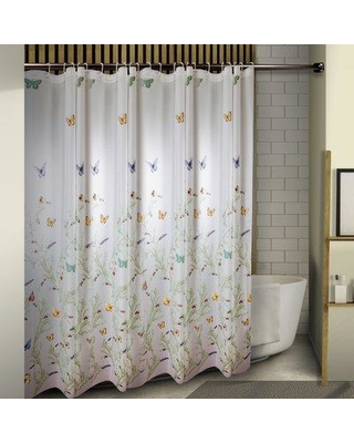 August Grove Obi Floating Butterflies Single Shower Curtain BF164392