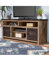 Union Rustic Woodsburgh TV Stand for TVs up to 65 inches UNOR1025 Color: Dark Pine/Light Pine
