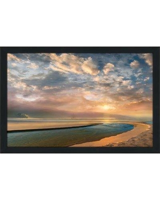 """Bay Isle Home 'Changing Tides' Framed Acrylic Painting Print BF126274 Size: 21.5"""" H x 27.5"""" W x 0.75"""" D"""
