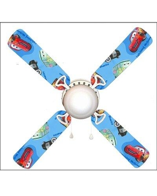 """888 Cool Fans 42"""" Cars Mater 4 Blade Ceiling Fan Light Kit Included F42-0001012"""