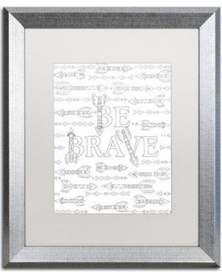 "East Urban Home 'Letters & Words XVIII' Framed Graphic Art ETRB1796 Matte Color: White Size: 20"" H x 16"" W x 0.5"" D"