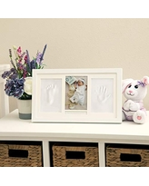 Keepsake Box Personalized Baby Gifts Nursery Decor-Holds Two 3x3 Images /& Clay Included Gray DII Home Traditions Baby Handprint /& Footprint Kit Frame for Newborn Boys /& Girls Shower Registry