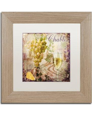 """Trademark Art 'Wine Country V' Framed Vintage Advertisement ALI4732-T1 Size: 11"""" H x 11"""" W x 0.5"""" D Mat Color: White"""