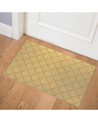 Latitude Run Alessandria Indoor Door Mat X114232085 Mat Size: Rectangle 2' x 3' Color: Gold
