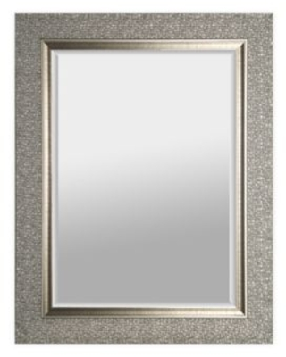 Shop Mirrorize Canada Mosaic Tiled 35 25 Inch X 27 25 Inch Rectangle Wall Mirror In Silver