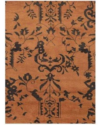 Bloomsbury Market Heuer Hand-Knotted Wool Brown Area Rug BLMS3058 Rug Size: Rectangle 6' x 9'