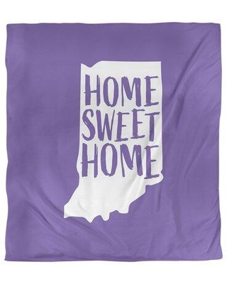 East Urban Home Indiana Home Sweet Single Duvet Cover EBJI1696 Size: Queen Duvet Cover Color: Purple Fabric: Microfiber