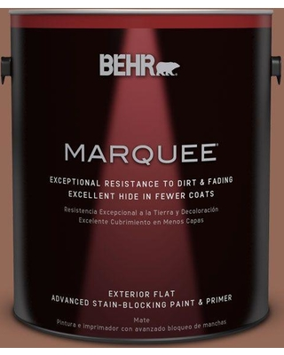 BEHR MARQUEE 1 gal. #S190-6 Rio Rust Flat Exterior Paint and Primer in One