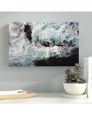 "Ebern Designs 'Ocean Moods' Graphic Art Print on Wrapped Canvas ENDE1675 Size: 16"" H x 24"" W x 2"" D"